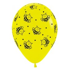 Bee (Std) (020) Sempertex Balloons 30cm Bag50