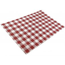 Greaseproof Paper Red Check 28gsm 1/4Cut 200x300mm Ream 200