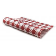 Greaseproof Paper Red Check 28gsm 1/2Cut 400x330mm Ream 200