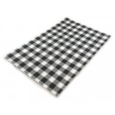 Greaseproof Black Check 28gsm 1/2Cut 400x330mm Ream 200