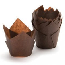 Tulip Muffin Wrap Brown (90/50mm high x 60mm base) P250