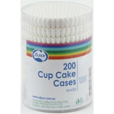Cup Cake Cases White (38x21mm) P200