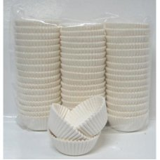 Cup Cake Cases White (38 x 21mm) P1000