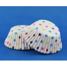 Cup Cake Cases Rainbow Polkadot (38 x 21mm) P100