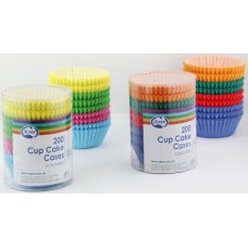 Cup Cake Cases Coloured (38x21mm) Pack200x12