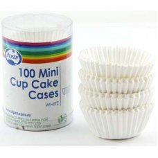 Mini Cup Cake Cases White (30x20mm) P100