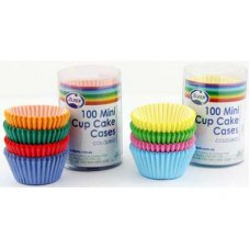 Mini Cup Cake Cases Coloured (30x20mm) P100