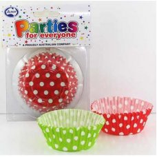 Muffin Red & Green Polkadot Xmas (55x29.5mm) P80