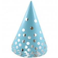 Cone Hats 150mm Blue/Silver Hot Stamping P6