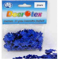 Holographic Stars 6mm & 11mm Blue 14gm Scatters P1