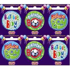 Birthday Boy (SBBB) Badge 6 pcs