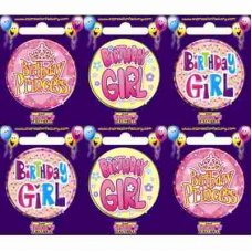 Birthday Girl (SBBG) Badge 6 pcs