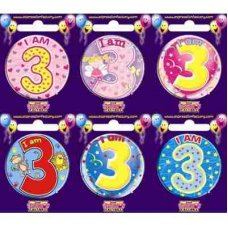 Age #3 (SB003) Badge 6 pcs