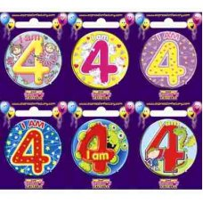 Age #4 (SB004) Badge 6 pcs