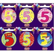 Age #5 (SB005) Badge 6 pcs
