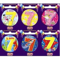 Age #7 (SB007) Badge 6 pcs