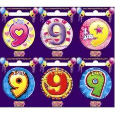 Age #9 (SB009) Badge 6 pcs