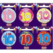 Age #10 (SB010) Badge 6 pcs