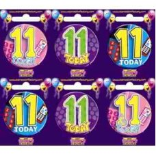 Age #11 (SB011) Badge 6 pcs