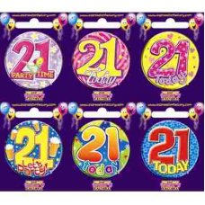 Age #21 (SB021) Badge 6 pcs