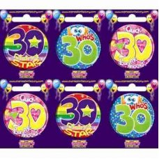Age #30 (SB030) Badge 6 pcs