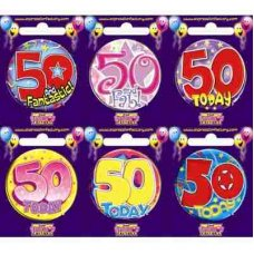 Age #50 (SB050) Badge 6 pcs