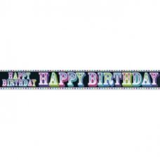 Happy Birthday (QA001) 2.6m Banner P1