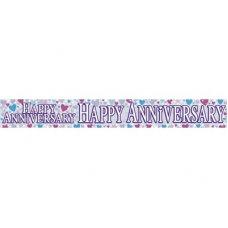 Happy Anniversary (QAH044U) 2.6m Banner P1