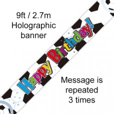 Happy Birthday Football Banner 2.7m P1