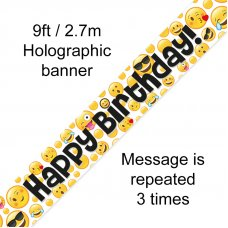 Happy Birthday Emoji Banner 2.7m P1
