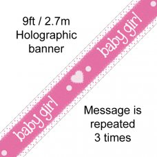 Baby Girl Pink Banner 2.7m P1