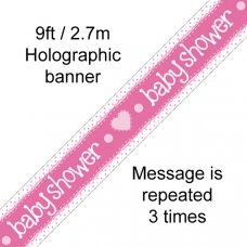 Baby Shower Blue Banner 2.7m P1