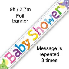Baby Shower Elephants Banner 2.7m P1
