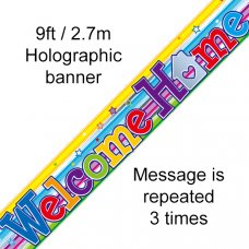 Welcome Home Swirl Banner 2.7m P1