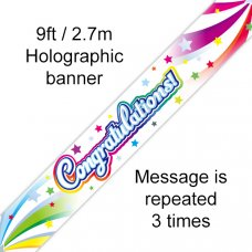 Congratulations Swirl Banner 2.7m P1
