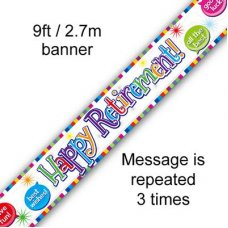 Happy Retirement Banner 2.7m P1