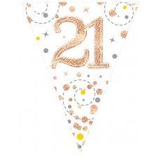 Sparkling Fizz Rose Gold Flag Bunting 3.9m 21 P1
