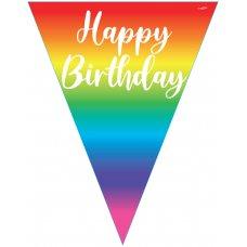 Rainbow Happy Birthday Flag Bunting 3.9m P1