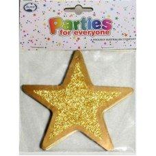 Glitter 4in Gold Stars P12