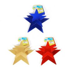 Foilboard Stars 3 Asstd Sizes-3 Colour Assortment P3