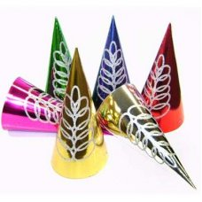 Cone 10in Foil & Glitter Mixed Colours Bag 50