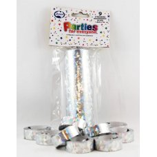 Streamers Holographic Silver 7m P9
