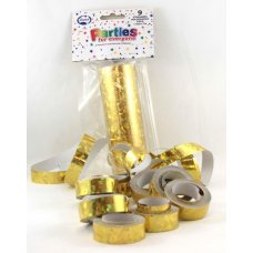 Streamers Holographic Gold 7m P9