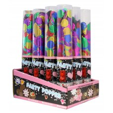 Press Button Poppers 25cm (Foil Confetti) Box12