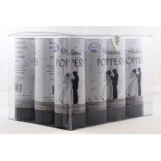Twist Poppers 10.5cm Wedding (White Tissue) Tray12
