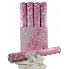 Twist Poppers 40cm Wedding (White Tissue Hearts) Box12