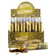 Twist Poppers 20cm Gold (Gold Foil Confetti) Box24