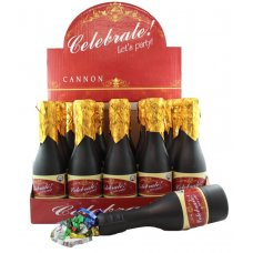 Twist Poppers 20cm Champagne Bottle(Foil Confetti) Box20