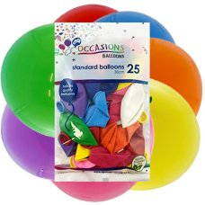 Assorted Colours 30cm Balloons P25
