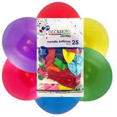 Metallic Assorted Colours 30cm Balloons P25